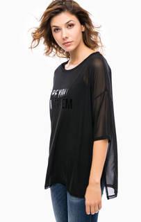 Черная блуза с топом в комплекте Kocca