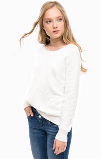 Белый свитер из вискозы Kocca