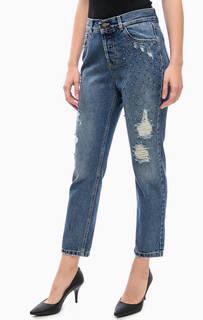 Рваные джинсы с декоративной отделкой Kocca