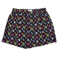 Разноцветные хлопковые трусы-шорты Happy Socks
