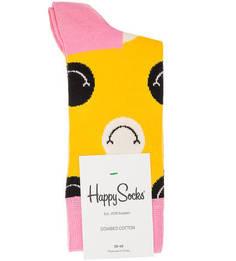 Желтые носки в крупный горошек Happy Socks
