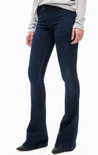 Расклешенные джинсы с заломами MET