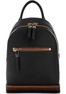 Черный кожаный рюкзак на молнии Gironacci