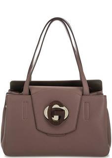 Кожаная сумка с откидным клапаном Gironacci