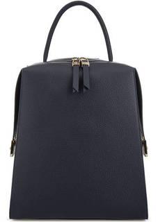 Синий рюкзак из мягкой кожи Gironacci