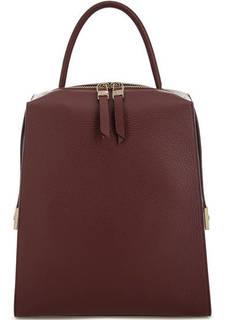Бордовый рюкзак из мягкой кожи Gironacci