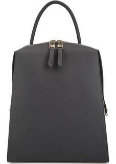 Серый рюкзак из мягкой кожи Gironacci