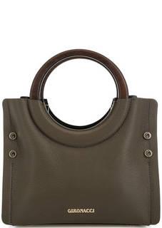 Кожаная сумка с округлыми ручками Gironacci