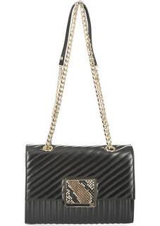 Стеганая кожаная сумка с откидным клапаном Cavalli Class