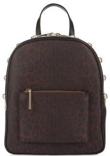 Бордовый рюкзак на молнии Cavalli Class