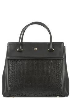 Кожаная сумка с декоративной перфорацией Cavalli Class