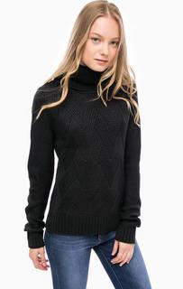 Трикотажный свитер с высоким воротником Blue Seven