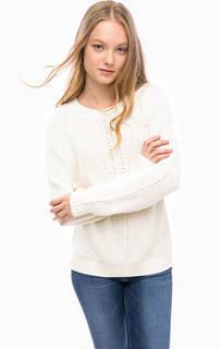 Трикотажный свитер молочного цвета Blue Seven