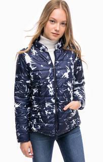Короткая куртка с цветочным принтом Blue Seven