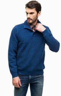 Хлопковый свитер с пуговицами на воротнике Blue Seven