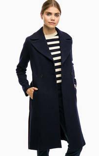 Шерстяное пальто синего цвета Marc Opolo