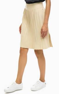 Бежевая трикотажная юбка в складку Marc Opolo