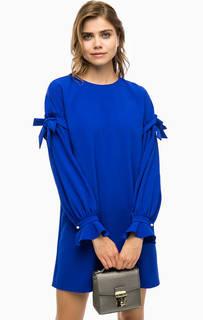 Синее платье свободного кроя Pinko