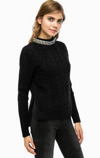 Шерстяной свитер с отделкой бусинами Pinko