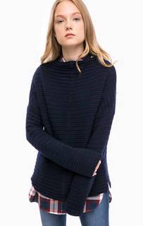 Синий шерстяной свитер Barbour
