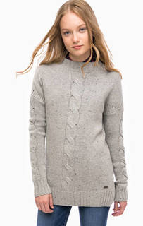 Серый шерстяной свитер Barbour
