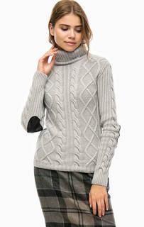 Серый свитер с высоким воротником Barbour