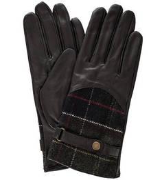 Кожаные перчатки с шерстяными вставками Barbour