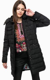 Длинная демисезонная куртка с капюшоном Desigual