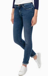 Синие зауженные джинсы Wrangler