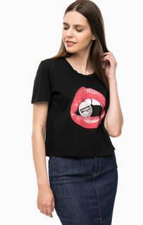 Укороченная футболка с принтом Wrangler