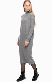 Серое платье средней длины Drykorn