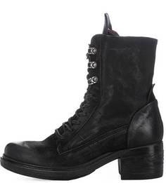 Кожаные ботинки с замшевыми вставками A.S.98