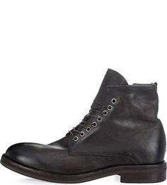 Кожаные ботинки на молнии и шнуровке A.S.98