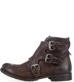 Коричневые ботинки из нубука A.S.98