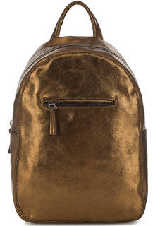 Золотистый рюкзак с одним отделом на молнии Bruno Rossi