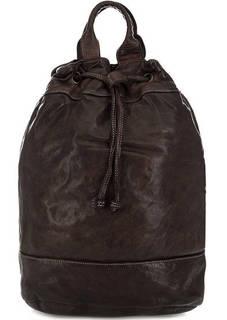 Вместительный кожаный рюкзак с широкими лямками Bruno Rossi