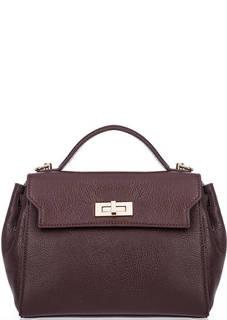 Бордовая сумка через плечо с короткой ручкой Lancaster