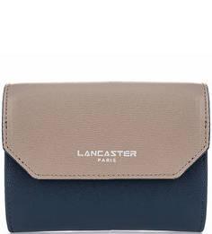 Кожаный кошелек на кнопке Lancaster