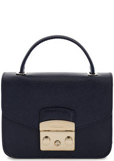 Маленькая кожаная сумка на плечевой цепочке Furla