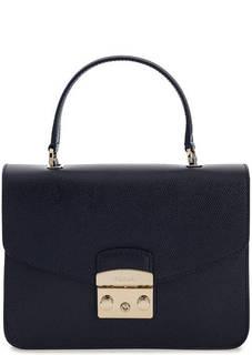 Маленькая кожаная сумка с откидным клапаном Furla