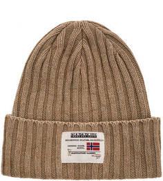 Вязаная шапка с содержанием шерсти и хлопка Napapijri