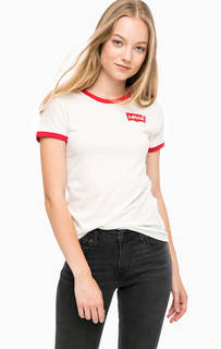 Хлопковая футболка с контрастными вставками Levis®