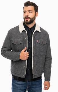 Утепленная серая куртка на кнопках Levis®