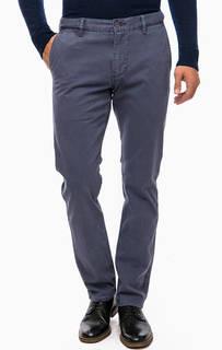 Хлопковые брюки синего цвета Dockers