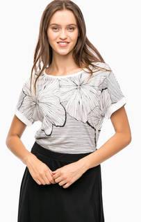 Трикотажная футболка с цветочным принтом Olsen