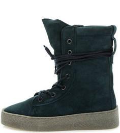 Высокие демисезонные ботинки из замши Bronx