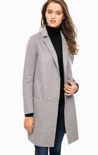 Серое трикотажное пальто на кнопках Cinque