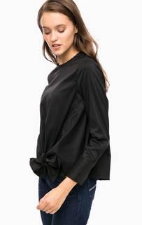 Черная блуза с застежкой на спинке Cinque