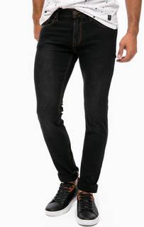 Черные джинсы скинни с контрастной строчкой Gaudi
