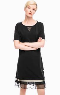 Черное хлопковое платье Liu Jo Sport